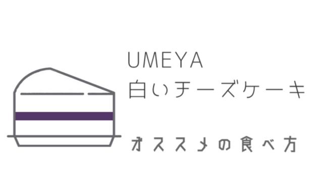 梅屋の黒いチーズケーキ【オススメの食べ方】