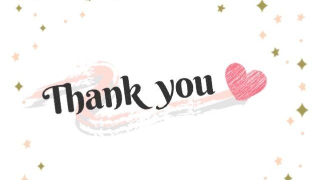 Thank youの文字の画像