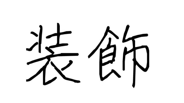 装飾と書かれた文字