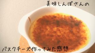 美味しんぼ日記のバスクチーズケーキ