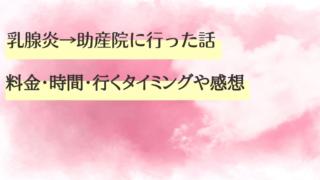 乳腺炎→助産院に行った話【料金・時間・行くタイミングや感想】